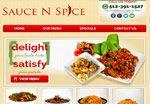Restaurant web design for Austin Texas based Sauce N Spice by http://www.redspotdesign.com