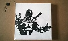 Deadpool hand painted on to canvas by Rhys in stlye of Crime Noir using traditional graphic book inking.   http://www.ebay.co.uk/sch/i.html?_from=R40&_trksid=p2050601.m570.l1313.TR0.TRC0.H0.Xrhys+horler.TRS0&_nkw=rhys+horler&_sacat=0  #deadpool #art #deadpoolart #marvel #marvelart #rhyshorler #ryanreynolds #art #blackandwhiteart #crimenoir #paintings #comicbookart #monochromeart #RhysHorler