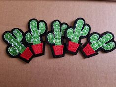 Free US Shipping / Sew on #Patch / #cactus in pot / die cut / #succulent  https://www.etsy.com/listing/569185474/free-us-shipping-sew-on-patch-cactus-in?utm_campaign=crowdfire&utm_content=crowdfire&utm_medium=social&utm_source=pinterest
