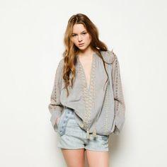 April Embroidered Boho Peasant Blouse Available at Souvenir® WWW.SHOP-SOUVENIR.COM