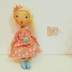 Принцесса для дочки - кукла ручной работы,кукла интерьерная,кукла текстильная