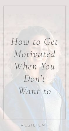 Motivation can be a tricky beast to master, but there are things you can do to make it easier. Here's how to get motivated when you don't want to do anything. How To Get Motivated, Remember Why You Started, Psychology Facts, Inspirational Videos, Feeling Overwhelmed, Emotional Intelligence, Life Purpose, Motivate Yourself, Best Self
