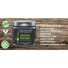 Dead Sea Mud Mask by Sky Organics For Face, Acne, Oily Skin & Blackheads - Best Facial Pore Minimizer, Reducer & Pores Cleanser Treatment - Natural & Organic Body Mud For Younger Looking Skin 8.8oz Image 2 of 6 #CleanserForOilySkin Cleanser For Oily Skin, Pore Cleanser, Face Cream For Wrinkles, Dead Sea Mud, Minimize Pores, Younger Skin, Natural Skin Care, Sky, Facial