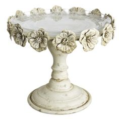 Cake Stand ~ Antique Ivory Roses - $70.00 : Enchanted Cottage Shop, For Gifts Antiques Reproductions Collectables and Home Decor