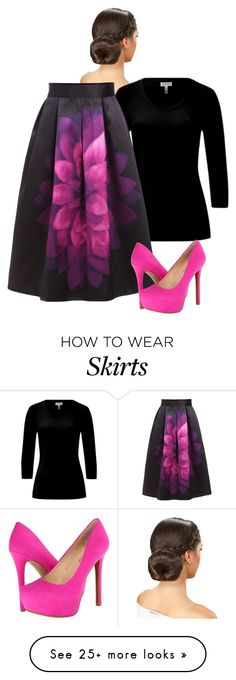 """The Skirt"" by rae1997 on Polyvore featuring ESCADA and Jessica Simpson"