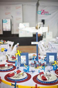 Aviãozinho como centro de mesa elevado