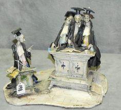 Toni Moretto Italian ceramic cartoonist sculpture : Lot 0198