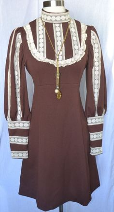 556fff866a0 VINTAGE 70 S LACE BODICE TRIM BELTED BOHO HIPPIE DRESS BY EMMA DOMB SIZE  S M   fashion  clothing  shoes  accessories  vintage  womensvintageclothing  (ebay ...