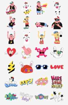 B15 Character Drawing, Character Design, Cartoon Bubbles, Face Stickers, Painting Collage, Cartoon Design, Line Sticker, Cute Characters, Cute Illustration