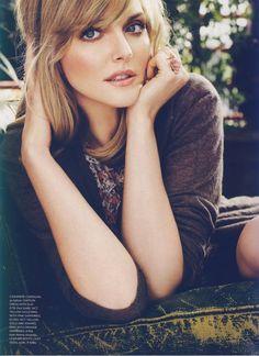 Beautiful make up. Sophie Dahl.
