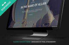 Islamic Center One Page PSD Template by Pixel Strawberry on Creative Market