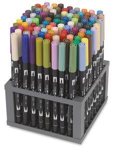 Set of 96 Colors Tombow Dual Brush Pens