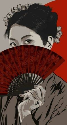 Abanicos Geisha, Spray Paint On Canvas, Japanese Culture, Samurai, Artist, Anime, Movies, Movie Posters, Painting