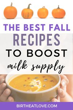 Easy lactation recipes perfect for Fall! Healthy pumpkin latte, pumpkin lactation smoothie, pumpkin lactation snacks and lots of pumpkin oatmeal recipes to boost milk supply. Delicious, easy recipes that are way better for you than lactation cookies! Lactation Recipes, Lactation Cookies, Oatmeal Recipes, Pumpkin Recipes, Fall Recipes, Healthy Recipes, Lactation Foods, Protein Recipes, Recipes Dinner