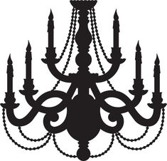 Chandelier SVG Digital Download Cut File Graphic Vector Image Cut