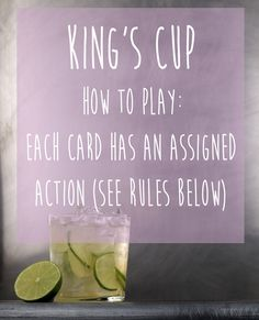 King's Cup (aka Ring of Fire) | 15 Simple Drinking Games Every Fresher Should Know
