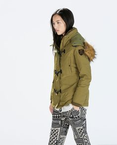 Image 2 of PUFFER PARKA WITH TOGGLES from Zara