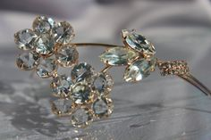 Vintage 1930's Floral Bridal Crystal by ButterflyEffectInc on Etsy