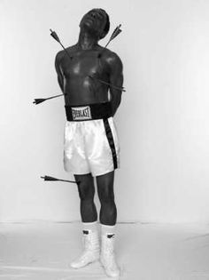 African Spirits [Muhammad Ali as Saint Sebastian], Samuel Fosso, date unknown Patras, Print Image, Contemporary African Art, Modern Contemporary, St Sebastian, Exploration, African Artists, African Diaspora, Contemporary Photography