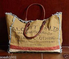 New-Tote-Handbag-Mona-B-Fashion-Alcott-Clothing-Recycled-Canvas-Hand-Bag-Printed