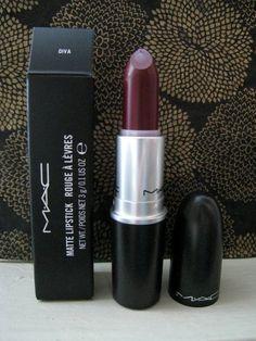 MAC Lipstick Matte Diva - beautiful matt dark lipstick perfect for Fall and Winter fashion months.