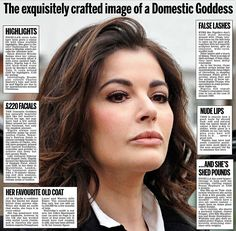Nigella Lawson.. get her new and strong look.. humanity is beautiful..