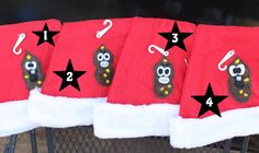 Poo Santa hats  You pick the one you want by Fecalfriends on Etsy, $14.00