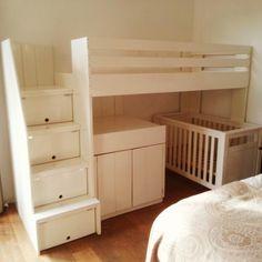 Halfhoogslaper on pinterest wands beds and met - Loft bed met opbergruimte ...