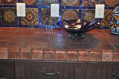 Terracotta Tile Countertops by Terramano Tile, via Flickr - looking for countertops