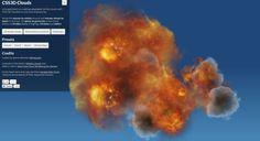 3D Clouds interactive,just with html5, JavaScript and css3.