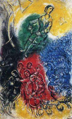 Music, 1963, Marc Chagall