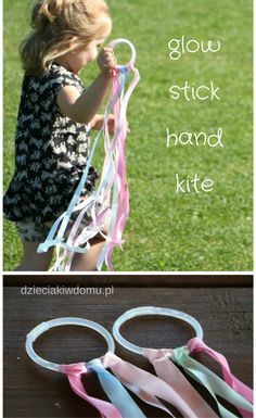 glow stick hand kite for kids