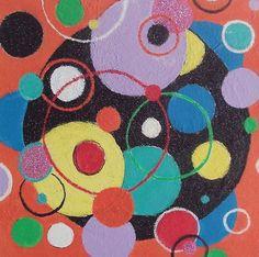 Abstract geometrische, schilderij van Anita Dielen   Abstract   Modern   Kunst