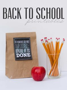 Free Back To School Lunch Printables