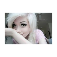 Girl With White Hair Tumblr fashionplaceface.com via Polyvore
