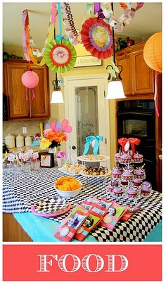 Alice in Wonderland party (and I secretly love the pantry door in the background!!!).