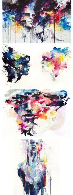 A artista italiana Silvia Pelissero cria belos quadros com aquarela, pinceladas fortes e coloridas.
