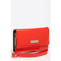 kate spade new york 'la pavillion' iPhone wristlet ($70) ❤ liked on Polyvore