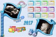 Calendarios para Photoshop: Calendario del 2017 de bebes para Photoshop (Psd y...