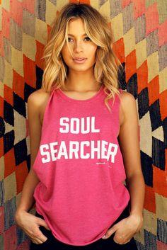 Soul Searcher Coachella Tank Red - Spiritual Gangster - 1