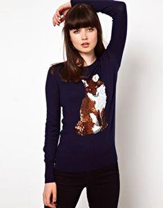 Markus Lupfer Fox Sequin Sweater