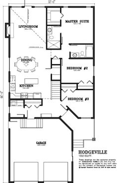 Deneschuk Homes 1300 - 1400 sq ft Home Plans RTM and Onsite