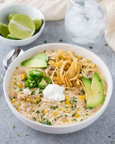 Slow Cooker Creamy White Chicken Chili - The Chunky Chef