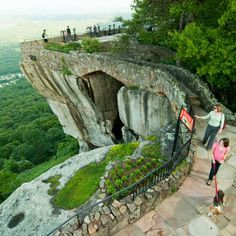 Rock City, Georgia: Lookout Mountain, Georgia Just six miles from Chattanooga, Tennessee, this rock formation holds plenty of exciting adventures. Oh The Places You'll Go, Places To Travel, Travel Destinations, Places To Visit, Travel Tips, Travel Guides, Tennessee Attractions, Tennessee Vacation, Visit Tennessee