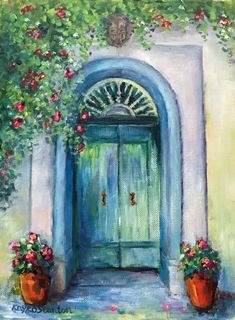 Original Paintings with Oil, Acrylic, and Mixed Media Mediterranean Paintings, Painted Doors, Acrylic Art, Door Knobs, Malta, Original Paintings, Mixed Media, Sunshine, Windows