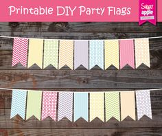 Printable Party flag banner INSTANT DOWNLOAD-  Rainbow SUPER Pack - perfect for events, outdoor parties, decor