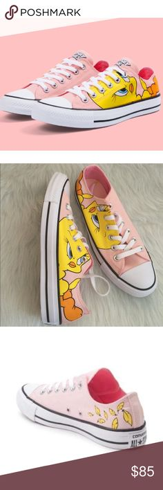 Converse All Star Low Looney Tunes Tweety Bird Brand new without box Converse Shoes Sneakers
