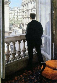 Uncertainty: Young Man at His Window by Gustave Caillebotte