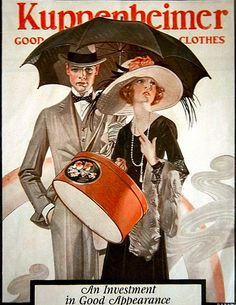 Kuppenheimer  'An investment in good appearence' Illustrated by  JC Leyendecker...