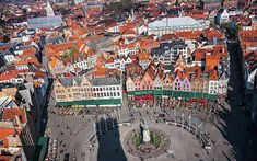 [OS][OC] Markt Square in Bruges from the top of the Belfry. Popular Photography, Bruges, High Quality Images, Belgium, Fine Art America, City Photo, Instagram Images, Gallery, Cityscapes